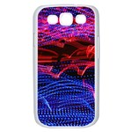 Lights Abstract Curves Long Exposure Samsung Galaxy S III Case (White) Front