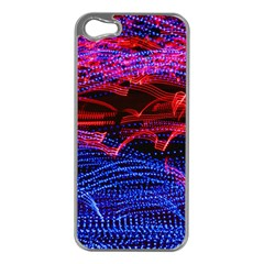 Lights Abstract Curves Long Exposure Apple iPhone 5 Case (Silver)