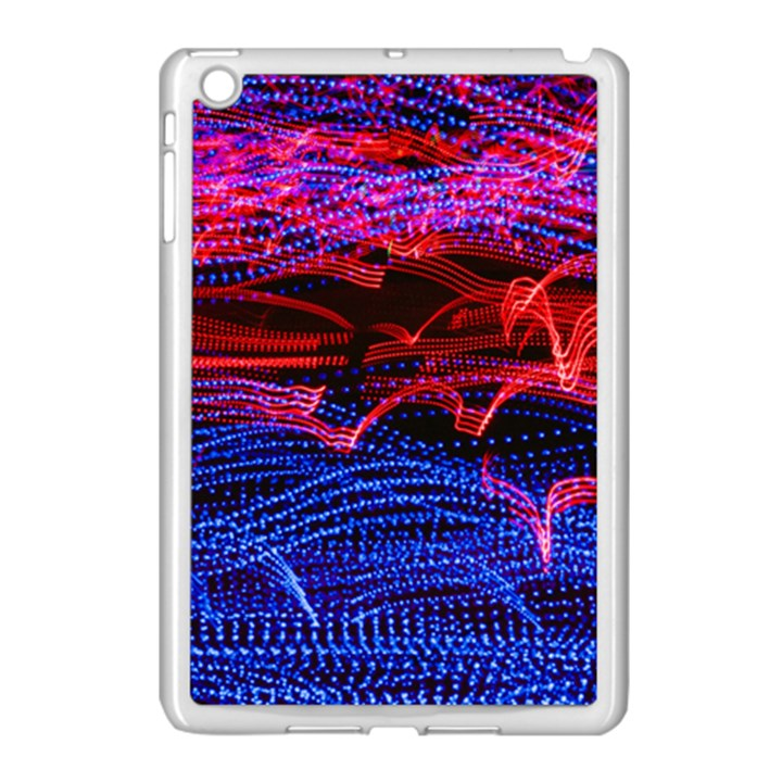 Lights Abstract Curves Long Exposure Apple iPad Mini Case (White)