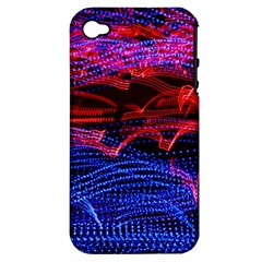 Lights Abstract Curves Long Exposure Apple iPhone 4/4S Hardshell Case (PC+Silicone)