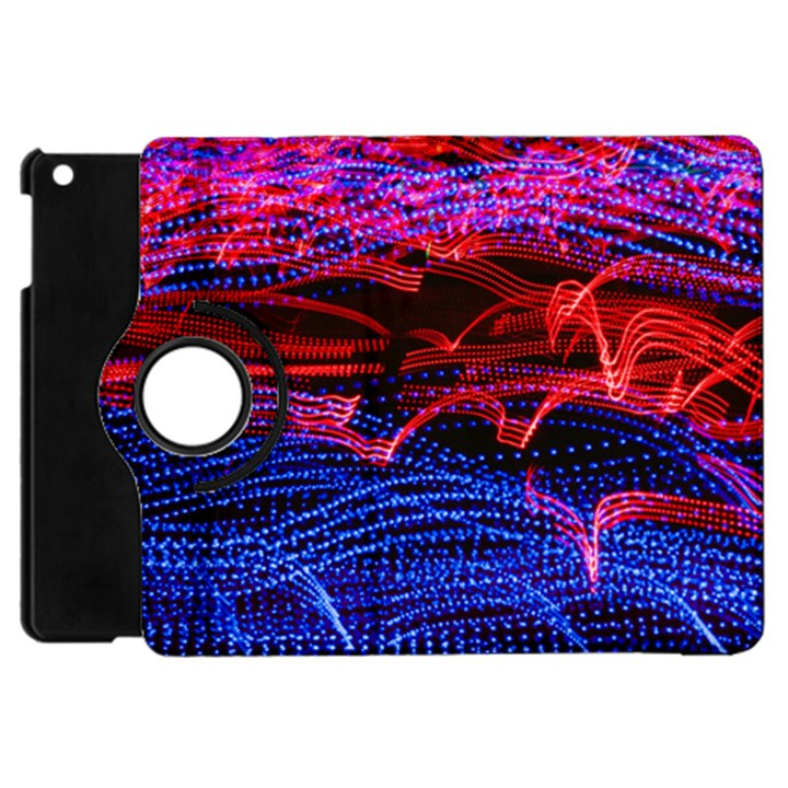 Lights Abstract Curves Long Exposure Apple iPad Mini Flip 360 Case