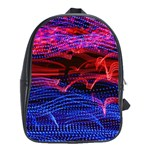 Lights Abstract Curves Long Exposure School Bags (XL)  Front