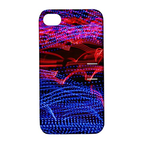 Lights Abstract Curves Long Exposure Apple iPhone 4/4S Hardshell Case with Stand