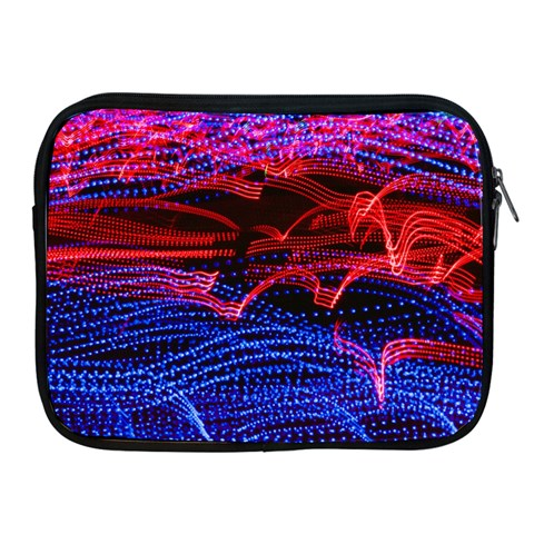 Lights Abstract Curves Long Exposure Apple iPad 2/3/4 Zipper Cases