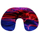 Lights Abstract Curves Long Exposure Travel Neck Pillows Front