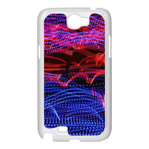 Lights Abstract Curves Long Exposure Samsung Galaxy Note 2 Case (White)
