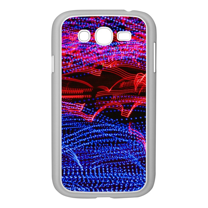 Lights Abstract Curves Long Exposure Samsung Galaxy Grand DUOS I9082 Case (White)