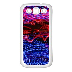 Lights Abstract Curves Long Exposure Samsung Galaxy S3 Back Case (White)