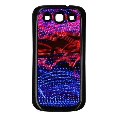 Lights Abstract Curves Long Exposure Samsung Galaxy S3 Back Case (Black)