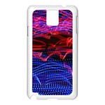 Lights Abstract Curves Long Exposure Samsung Galaxy Note 3 N9005 Case (White) Front