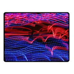 Lights Abstract Curves Long Exposure Double Sided Fleece Blanket (Small)