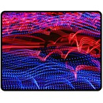 Lights Abstract Curves Long Exposure Double Sided Fleece Blanket (Medium)  60 x50 Blanket Front