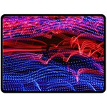 Lights Abstract Curves Long Exposure Double Sided Fleece Blanket (Large)  80 x60 Blanket Back