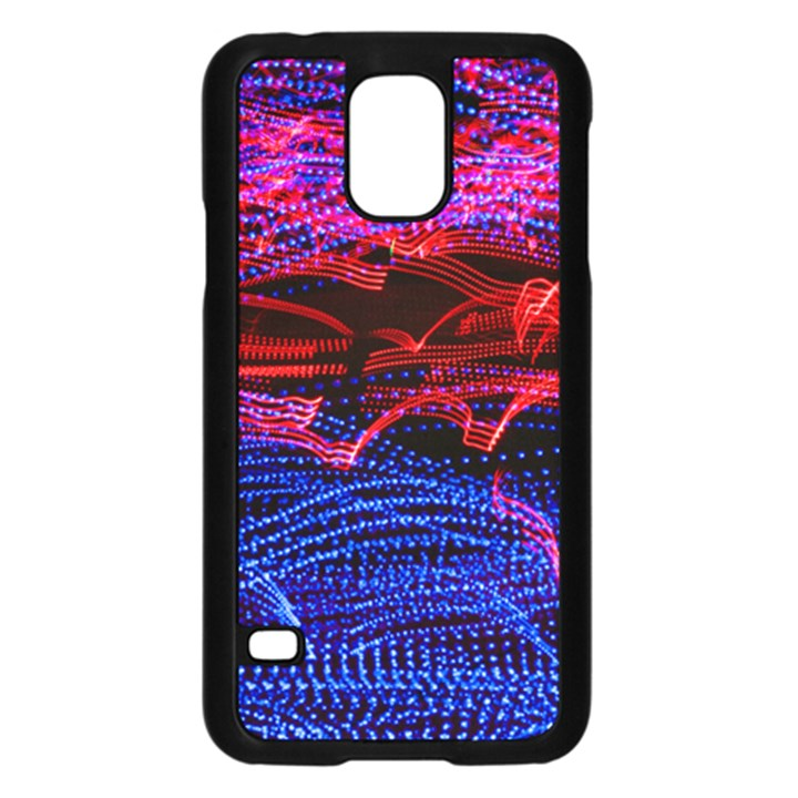Lights Abstract Curves Long Exposure Samsung Galaxy S5 Case (Black)
