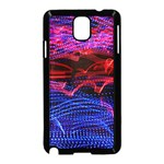 Lights Abstract Curves Long Exposure Samsung Galaxy Note 3 Neo Hardshell Case (Black) Front