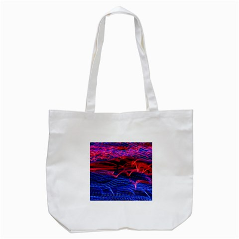 Lights Abstract Curves Long Exposure Tote Bag (White)