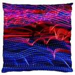 Lights Abstract Curves Long Exposure Large Flano Cushion Case (One Side) Front