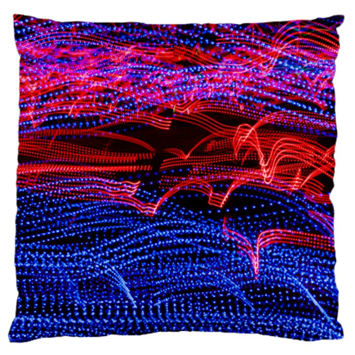 Lights Abstract Curves Long Exposure Large Flano Cushion Case (Two Sides)