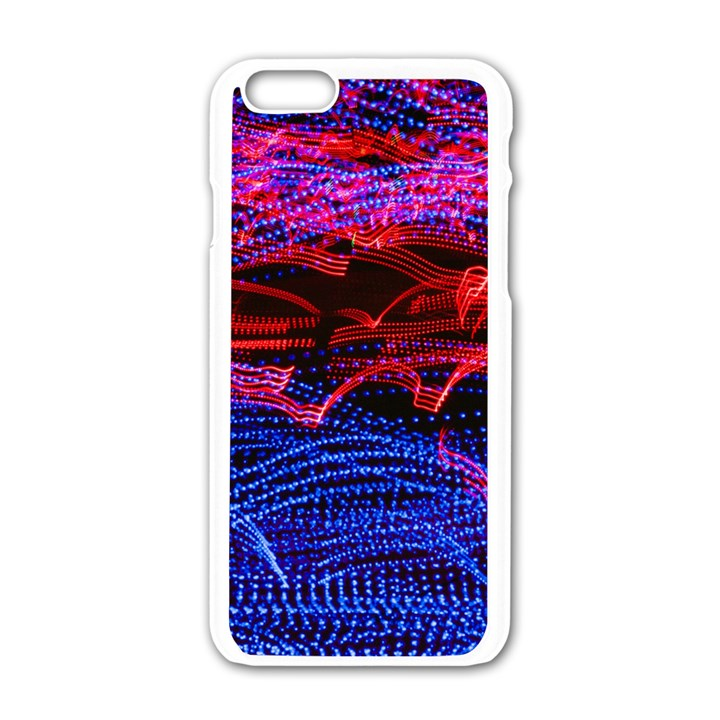 Lights Abstract Curves Long Exposure Apple iPhone 6/6S White Enamel Case
