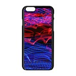 Lights Abstract Curves Long Exposure Apple iPhone 6/6S Black Enamel Case Front