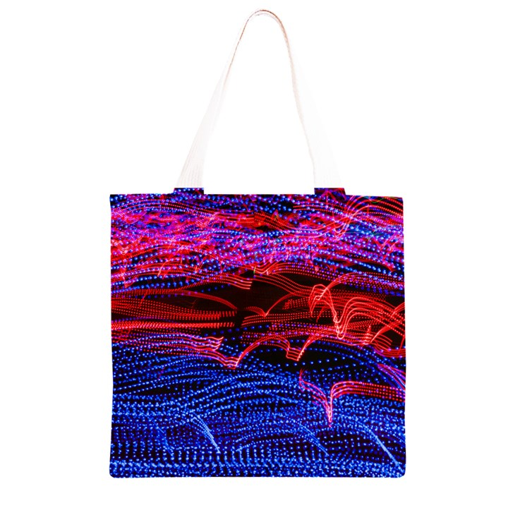 Lights Abstract Curves Long Exposure Grocery Light Tote Bag