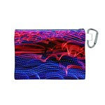 Lights Abstract Curves Long Exposure Canvas Cosmetic Bag (M) Back