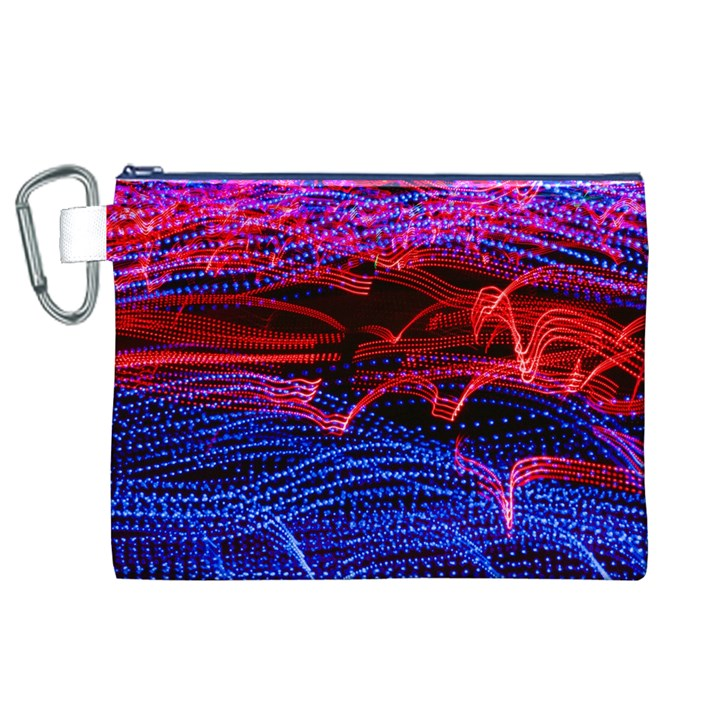 Lights Abstract Curves Long Exposure Canvas Cosmetic Bag (XL)