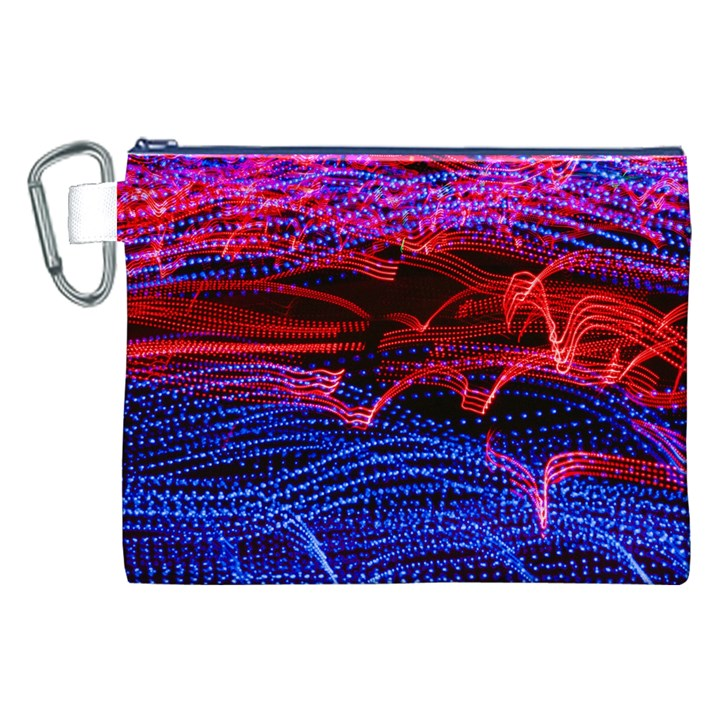 Lights Abstract Curves Long Exposure Canvas Cosmetic Bag (XXL)
