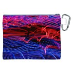 Lights Abstract Curves Long Exposure Canvas Cosmetic Bag (XXL) Back