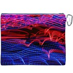 Lights Abstract Curves Long Exposure Canvas Cosmetic Bag (XXXL) Back
