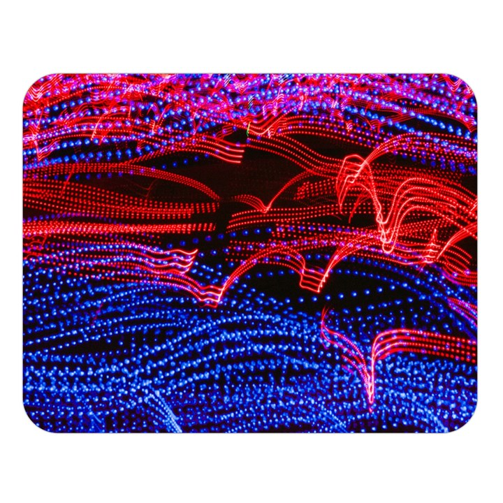 Lights Abstract Curves Long Exposure Double Sided Flano Blanket (Large)