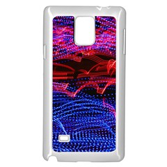 Lights Abstract Curves Long Exposure Samsung Galaxy Note 4 Case (White)