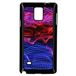 Lights Abstract Curves Long Exposure Samsung Galaxy Note 4 Case (Black) Front