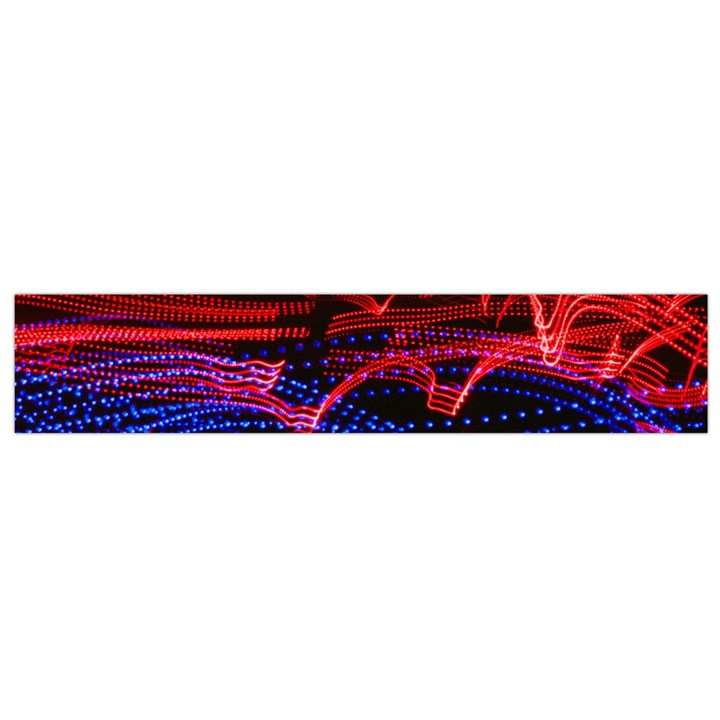Lights Abstract Curves Long Exposure Flano Scarf (Small)