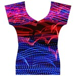 Lights Abstract Curves Long Exposure Women s V-Neck Cap Sleeve Top Front