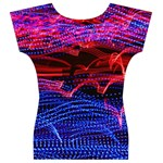 Lights Abstract Curves Long Exposure Women s V-Neck Cap Sleeve Top Back