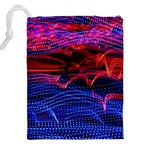 Lights Abstract Curves Long Exposure Drawstring Pouches (XXL) Back
