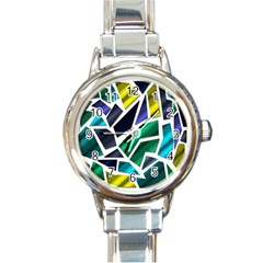 Mosaic Shapes Round Italian Charm Watch