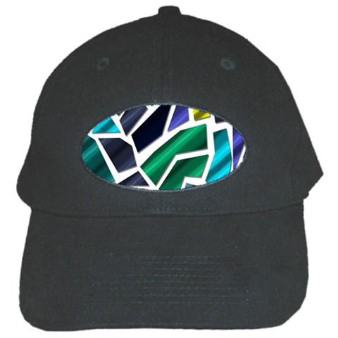 Mosaic Shapes Black Cap