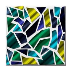 Mosaic Shapes Tile Coasters