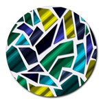 Mosaic Shapes Round Mousepads Front
