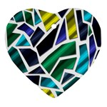 Mosaic Shapes Ornament (Heart)  Front