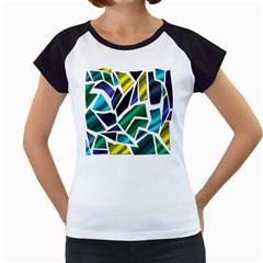 Mosaic Shapes Women s Cap Sleeve T