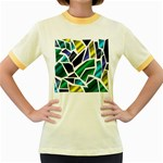 Mosaic Shapes Women s Fitted Ringer T-Shirts Front
