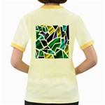 Mosaic Shapes Women s Fitted Ringer T-Shirts Back