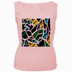 Mosaic Shapes Women s Pink Tank Top