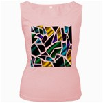 Mosaic Shapes Women s Pink Tank Top Front