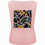 Mosaic Shapes Women s Pink Tank Top Back