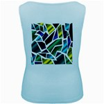 Mosaic Shapes Women s Baby Blue Tank Top Back