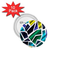 Mosaic Shapes 1.75  Buttons (10 pack)